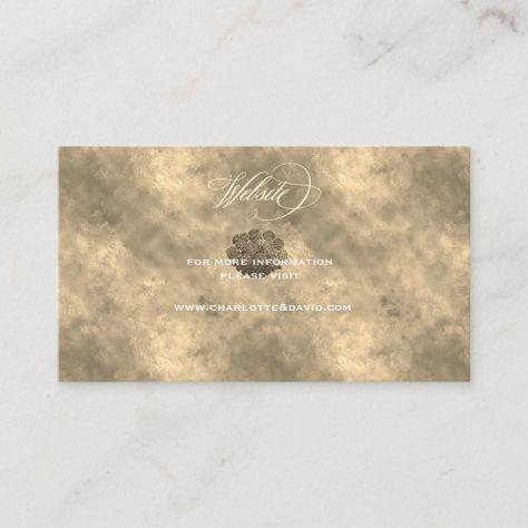 Wedding Website Insert Card Charl.FL Light Gold #wedding #weddingsuite #weddingwebsite #weddinginvitation #calligraphy #stationery #frame #elegant #classic #collection