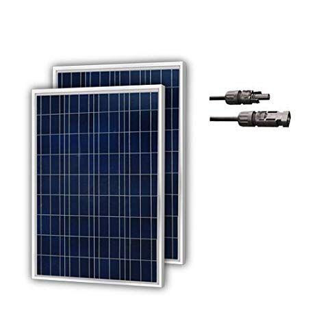 Newpowa 2 Piece 100w Polycrystalline Photovoltaic Pv Solar Panel Module 12v Battery Charging Solar Panels Solar Pv Panel Best Solar Panels