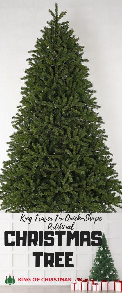 6 5 Foot King Fraser Fir Quick Shape Artificial Christmas Tree Unlit King Of Christmas Artificial Christmas Tree Christmas Tree Green Christmas Tree