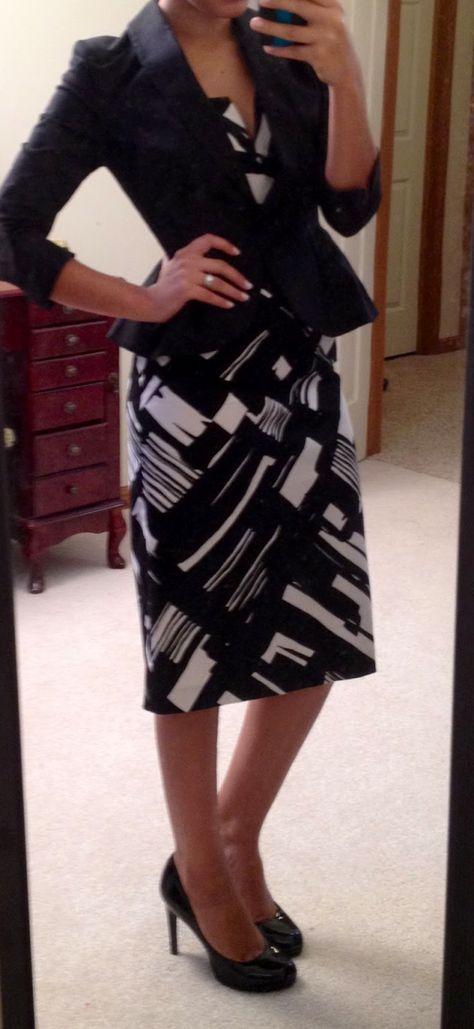peplum jacket + pencil dress