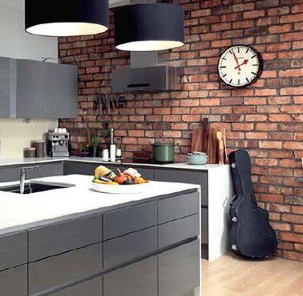 New Kitchen Wall Brick Tiles 42 Ideas Brick Wall Kitchen Brick Kitchen Brick Tiles Kitchen