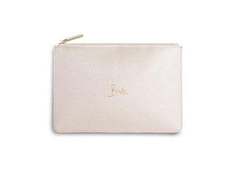 b0e1bbc279f Katie Loxton Just Married Perfect Pouch in Metallic Gold | Products | Bags,  Wedding accessories, Gift bags