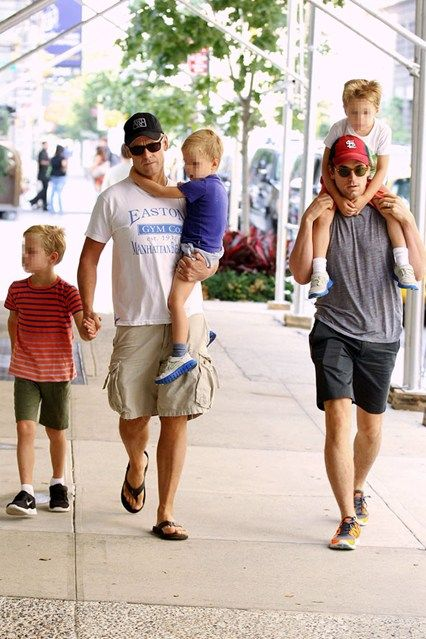 Actor Matt Bomer and his publisher partner Simon Halls really have their work cut out! The pair have three sons born via surrogate, including a set of twins!