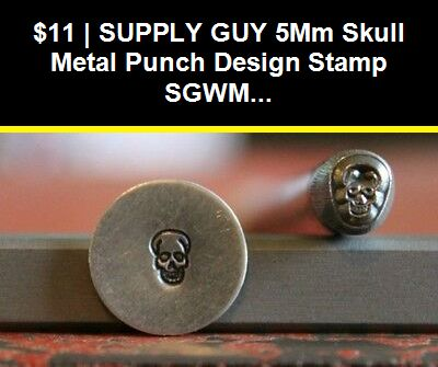 Made in the USA SUPPLY GUY 5mm Star with Dots Metal Punch Design Stamp SGWM-25