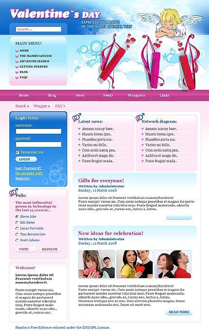 15+ Valentine Gifts osCommerce Website Templates | Pinterest ...