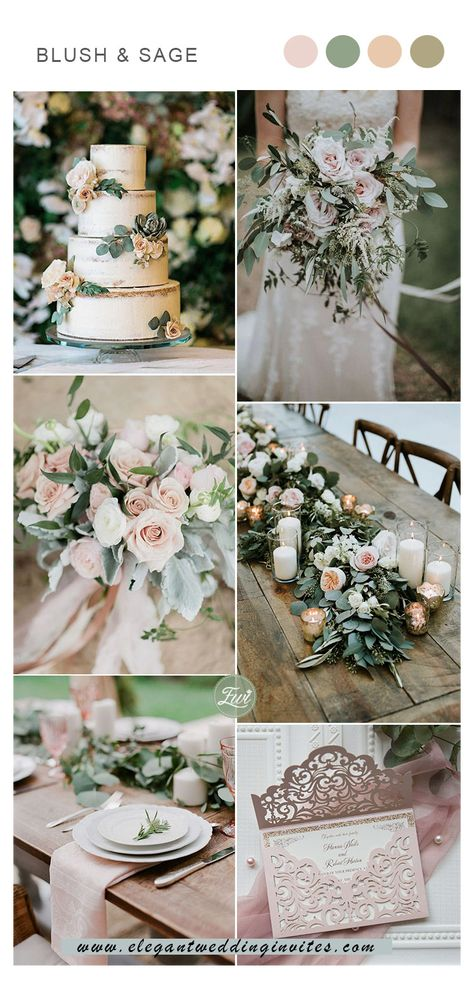 Elegant Wedding Colors, Blush Wedding Colors, Spring Wedding Colors, Wedding Color Schemes, Summer Wedding Themes, Spring Wedding Decorations, Spring Weddings, Garden Wedding Themes, Colour Themes For Weddings