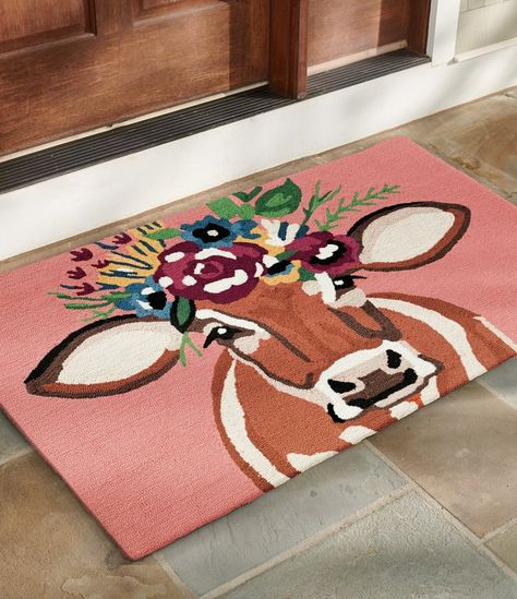 Our Betsy Hooked Door Mat is hand-hooked from durable polypropylene, so it's perfect outdoors or inside, it's easy to clean, and ideal for lots of busy foot traffic.
