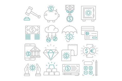 Banking icons set (128402)   Icons   Design Bundles
