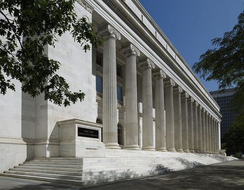 Byron White Federal Courthouse: The Byron White U.S. Courthouse, built in 1916, is a Neo-classical Revival style building.  Clad in white Colorado Yule marble, the main partico is lined with sixteen colossal Ionic columns that really make it stand out from other downtown buildings.