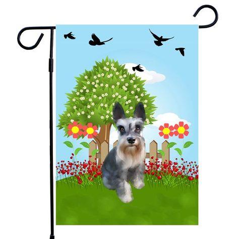 miniature schnauzer dog garden flag dog house flag a perfect home rh pinterest co uk