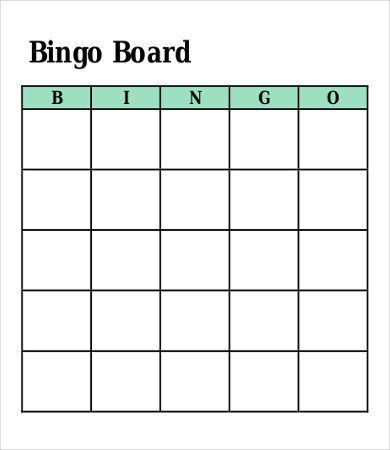 Bingo Card Template Free Bingo Card Template 8 Free Word Pdf Vector Format Bingo Card Template Business Card Template Word Card Templates Free
