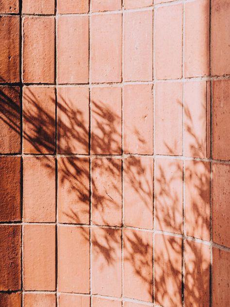 Peach wall with shadows