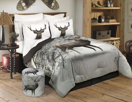 Safdie Co Comforter Set 3pc K Deer In Snowy Forest Multi King Deer Bedroom Decor Bed Comforter Sets Comforter Sets