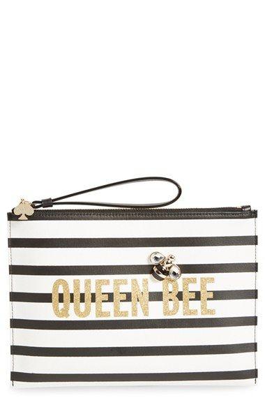kate spade new york 'queen bee - bella' wristlet