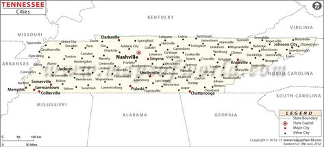 Bards Town Tennessee City Map Lynchburge Places To Visit - Tennessee cities map