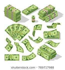 Cartoon Money Bills Green Dollar Banknotes Cash Vector Icons Cash Money Paper Financial Pile Banknotes Illustration Dollar Banknote Money Bill Green Dollar
