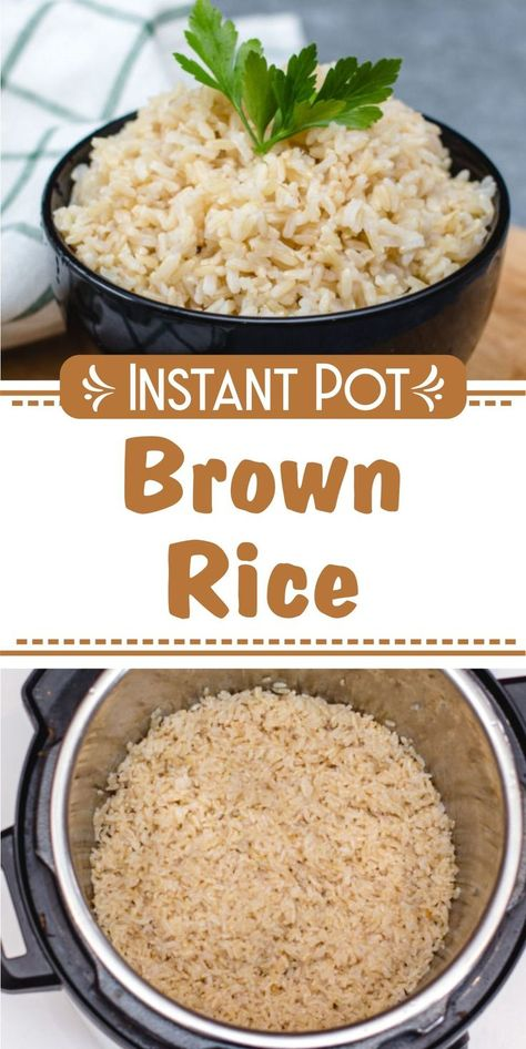 Instant Pot Brown Rice Wanna make Instant Pot Brown Rice? My name is Corrie and I am here to help! Oh and I also have FREE pressure cooker recipes especially for you :) Pressure Cooker Brown Rice, Instant Pot Pressure Cooker, Best Instant Pot Recipe, Instant Pot Dinner Recipes, Pressure Cooking Recipes, Slow Cooking, Cooker Recipes, Oven Recipes, Soup Recipes
