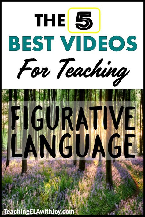 figurative teaching language videos best with for ela joy 5 5 BEST Videos for Teaching Figurative Language Teaching ELA with JoyYou can find Figurative language and more on our website Sensory Language, Figurative Language Activity, Language Activities, Middle School Ela, Middle School English, Middle School Teachers, 6th Grade Ela, 4th Grade Reading, Early Reading