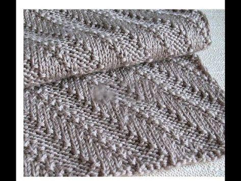 164 мк мужской шарф спицами красивым узоромочень легко и просто