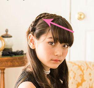 ヘアアレンジlesson 2 三つ編みで作る簡単ヘアアレンジ フラワーティアラアレンジ 女の子 髪型 アレンジ ヘアアレンジ