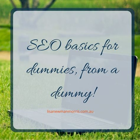 SEO basics for dummies - Tips from a dummy