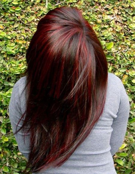 27++ Black hair with red lowlights ideas in 2021