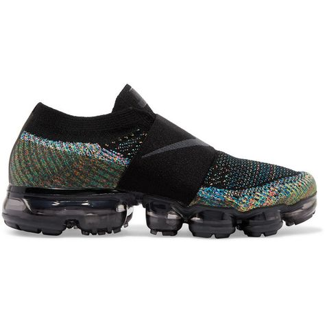 great fit f9d20 f827a Nike Air VaporMax Flyknit Moc slip-on sneakers (€195) ❤ liked on Polyvore  featuring shoes, sneakers, black, black sneakers, nike trainers, black  slip-on ...