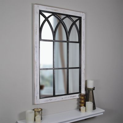 Vista Arched Window Metal Mirror Window Mirror Arched Window Mirror Arched Windows