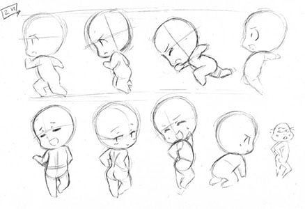 Chibi Sketch Anime In 2020 Chibi Sketch Chibi Drawings Chibi Body