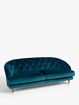 John Lewis Partners Meghan Fluted Back Velvet Armchair Dark Leg Aquaclean Harriet Rose Seater Sofa 2 Seater Sofa 3 Seater Sofa