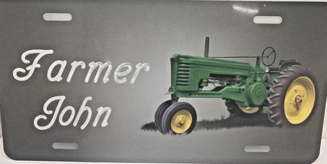 Tractor Personalized Custom License Vanity Plate Free Engraved Auto Car Tag Farm Tractor Country Lic License Plate Designs Vanity Plate Tractors