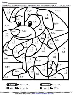 Multiplication Color By Number Printable Free Color By Number ...