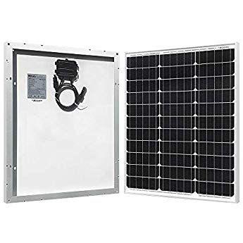 Hqst 50 Watt 12 Volt Monocrystalline Solar Panel For Rv Boat Other Off Grid Applications 50w Compac Monocrystalline Solar Panels Best Solar Panels Solar Panels