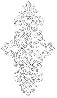 Japanese Embroidery Patterns There are a thousand ways to kneel and kiss the ground. Islamic Art Pattern, Pattern Art, Pattern Design, Stencil Patterns, Embroidery Patterns, Hand Embroidery, Machine Embroidery, Flower Embroidery, Colouring Pages