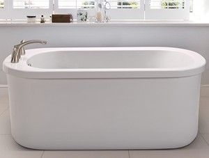 MTI MBSXFSX6636 Oval Freestanding Tub with Deck Mount Tub Faucet