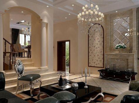 Kreative Gestaltung Vom Luxus Wohnzimmer Schwarze Mobel Und