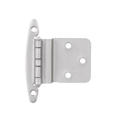 Hickory Hardware Surface Mounted Satin Nickel Self Closing Overlay Hinge 20 Pack Vp244 Sn The Home Depot Hinges For Cabinets Inset Cabinets Glass Cabinet Doors