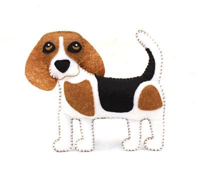 Beagle Hand Sewing Pattern Felt Beagle Softie Plush Beagle Dog
