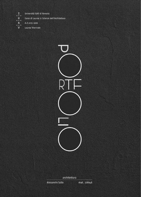 as PORTFOLIO cover iuav