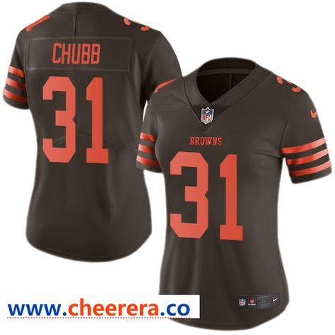 nick chubb stitched jersey