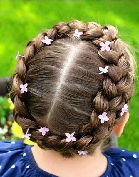 Coiffure Petite Fille Originale 45 Coiffures De Petite Fille Qui Changent Des Couettes Elle Cute Hairstyles For Medium Hair Hair Styles Medium Hair Styles