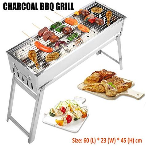 Acier Inoxydable Camping Portable Extérieur Barbecue de Table Barbecue Grill Cuisson W