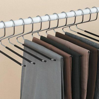 Ideaworks Set Of 12 Trouser Hangers Trouser Hangers Clothes Hanger Organization Storage Solutions