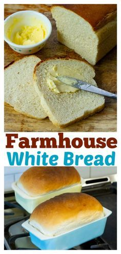 Farmhouse Homemade White Bread (Amish Bread) – The Kitchen Magpie Farm Pain blanc fait maison (pain amish) – The Kitchen Magpie Farm – Farm Bread Recipe, Amish Bread Recipes, Bread Maker Recipes, Baking Recipes, White Bread Recipes, Farmhouse Bread Recipe, White Bread Machine Recipes, Fresh Yeast Bread Recipe, Best White Bread Recipe