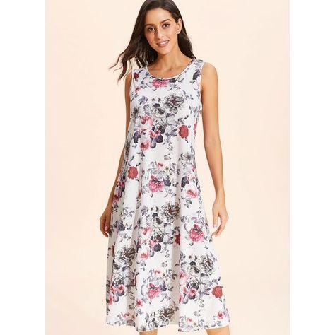 b39311ba23cb FloryDay / Floral Slip Sleeveless Maxi Shift Dress (1955401822)