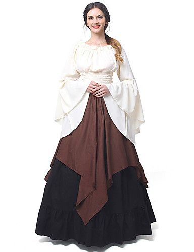 Womens Renaissance Medieval Fancy Dress Ladies Halloween Gothic Cosplay Costume