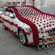 wedding car decoration   Google Search   Indian wedding cars