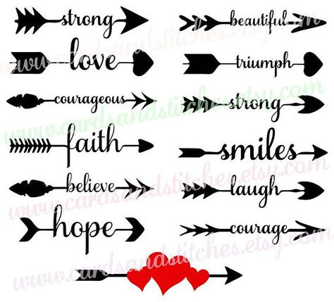 These Arrow Words SVG Digital Cutting File is perfect for making cards, signs, shirts and so much more. Great for encouragement and inspiration for those you love. https://www.etsy.com/shop/cardsandstitches ***************************************************************************
