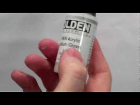Acrylic Mediums : How to use Acrylic Glazing Liquid and Mediums Part 3 - YouTube