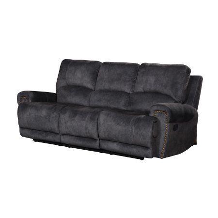 Home Source Suede Inspired Grey Reclining Sofa #recliningsofa ...